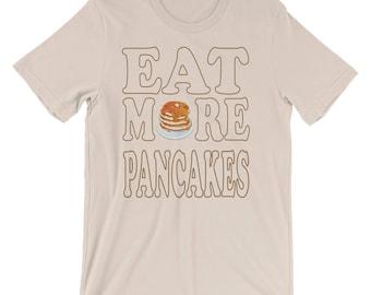 Vintage Style Eat More Pancakes T-Shirt, Pancakes Shirt, Pancakes T-shirt, Breakfast Shirt, Pancake Shirt, Short Stack Shirt