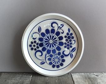 Vintage Mikasa Blue & White Serving Platter / Serving Plate