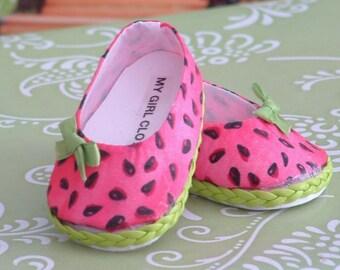 Watermelon Ballet Flats for American Girl
