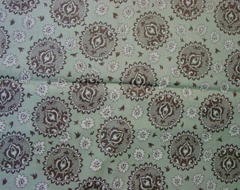 "Vintage Fabric, Fabulous Quality Cotton Print, 4 Yards, 36"" Wide Early Fruit of the Loom"