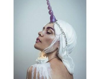 Unicorn Horn Chain Headdress / Unicorn Horn Circlet / Unicorn Costume Headband