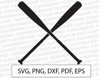 Baseball bat SVG, Baseball bats Vector, Clipart, Cut File, Baseball bat Clip Art,  Cricut, bat png, DXF, pdf, EPS FlexyCreatives #vc-89