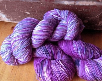 A Shovel to the Face - NEW hand dyed superwash Merino super soft wool blend sock yarn 462 yards 100 grams