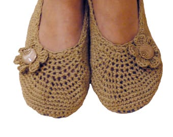 Slippers , linen with cotton , comfy,gift for women, flip flops,crochet,