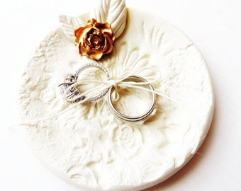 ring bearer bowl married by the sea wedding ring holder