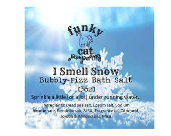 Clearance Gilmore Girls inspired bath salts I Smell Snow bubbly-fizz bath salts