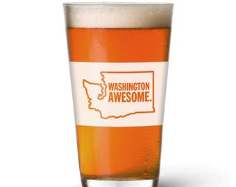 Washington Awesome Pint Glass