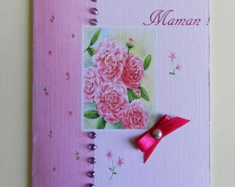 Customizable greeting card. Mother's Day card. Handmade, handcrafted