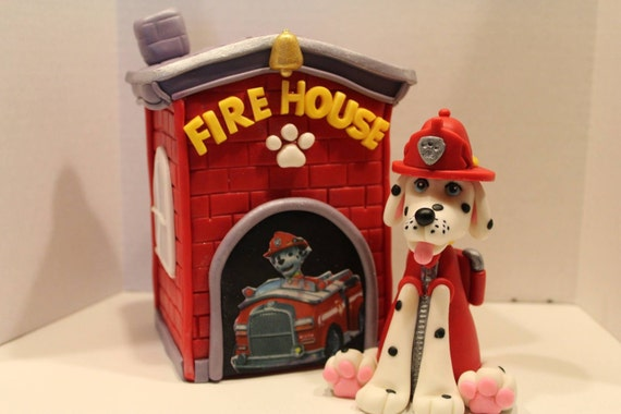 Paw Patrol Marshall and Firehouse Cake Topper Set from ... on firehouse ice cream, firehouse toy, firehouse beer, firehouse cupcake, firehouse desserts, firehouse gingerbread house, firehouse sauces,
