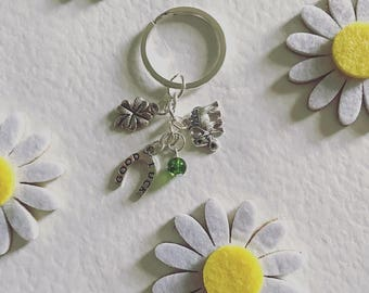 Good Luck / Four Leaf Clover / Elephant /Horse Shoe / Beads / Keyring / Keychain / Gift for All