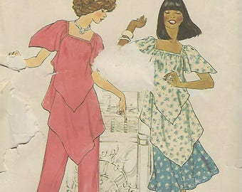 Simplicity 7761  Misses' Pullover Tunic, Skirt And Pants  Size 10  UNCUT