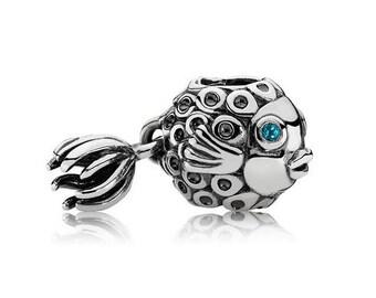 Authentic Pandora Splish Splash Angel Fish Charm Bead