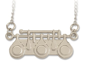 Flute Necklace - Music jewelry for the flutist or flautist. What a Trill.