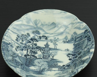 Vintage porcelain bowl Johnson Bros China Enchanted Garden great gift