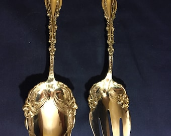 JOSEPHINE Salad Serving Set - Fork & Spoon - Sterling 1890 by Frank Whiting