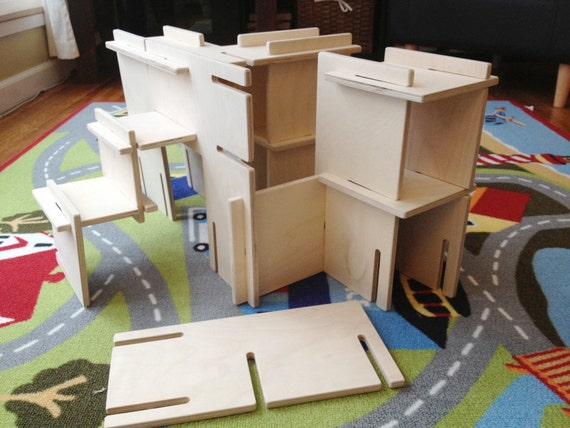 Organic natural wood architect play set architect modular - Punch home design architectural series 18 ...