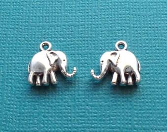 10 Elephant Charms Silver Boho Charms - CS2712