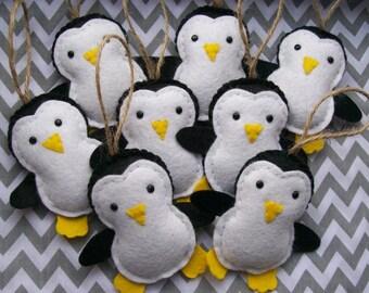 Filz Pinguin Dekoration, ein Weihnachten Pinguin, Baby-Weihnachtsschmuck, Weihnachtsschmuck
