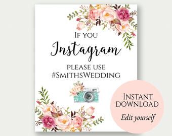 Instagram Wedding Etsy - Instagram cut out template
