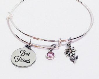 Best Friend Bracelet, Best Friend Jewelry, Birthday Gifts for Best Friend, Best Friend Birthday Gift, BFF Gifts, Best Friend, BFF Bangle