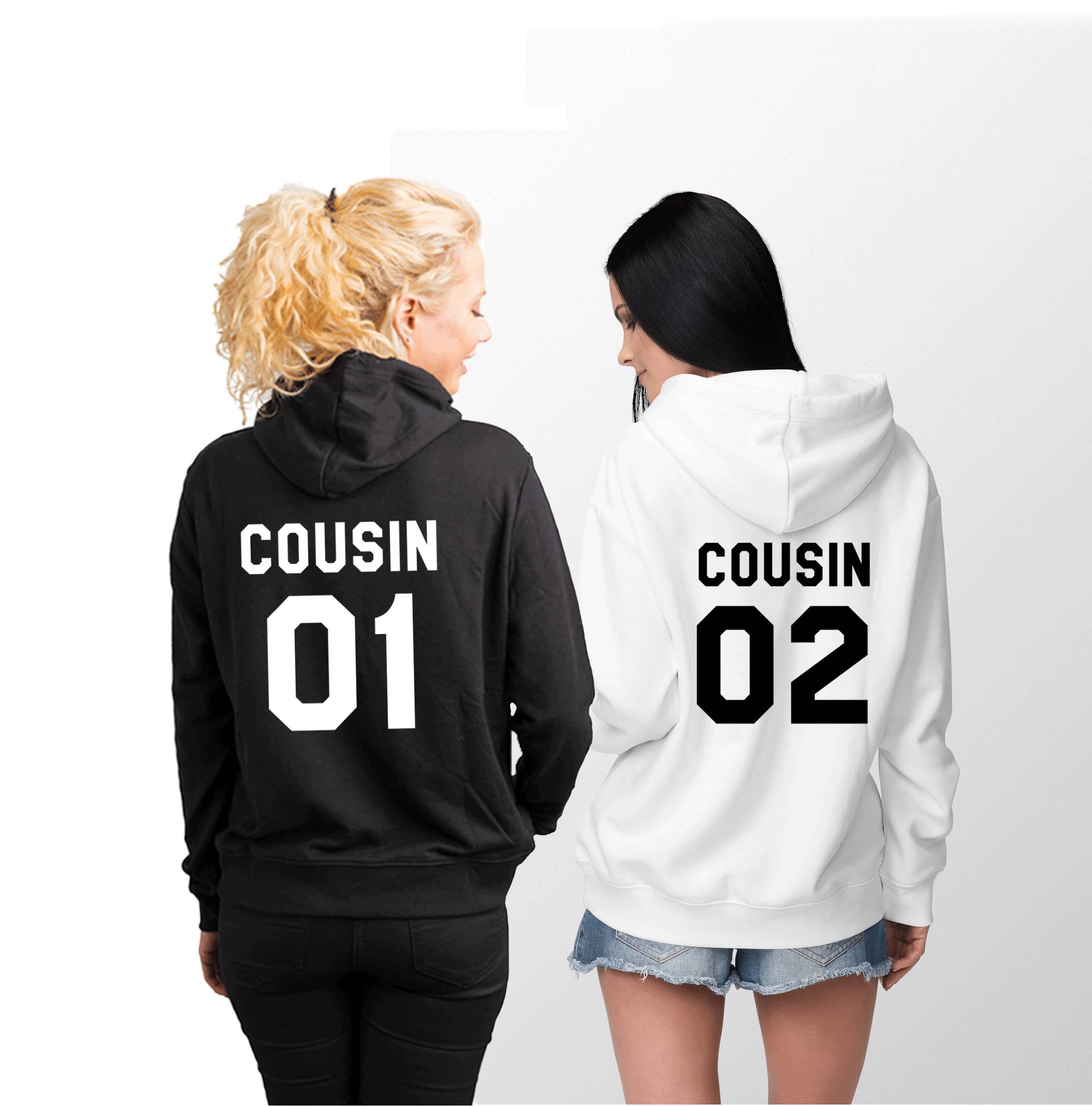 Cousin 01 Cousin 02 Hoodies passende Hoodies Familie