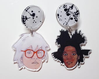 BFFs Large Dangle Acrylic Earrings