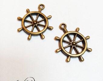 Charm color bronze sailing boat bar