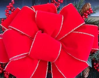 2 Decorative Christmas Bows, Wreath Bow For Christmas Wreath or Holiday Wreath, Christmas Decoration, Christmas Decor