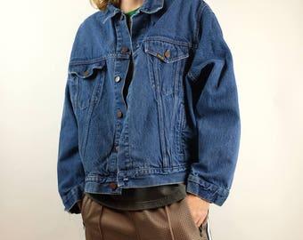 Vintage 90s Roebucks Denim Jacket - Roebuck & Co. Jean Jacket - 80s Medium Wash Denim Jacket - Size XL