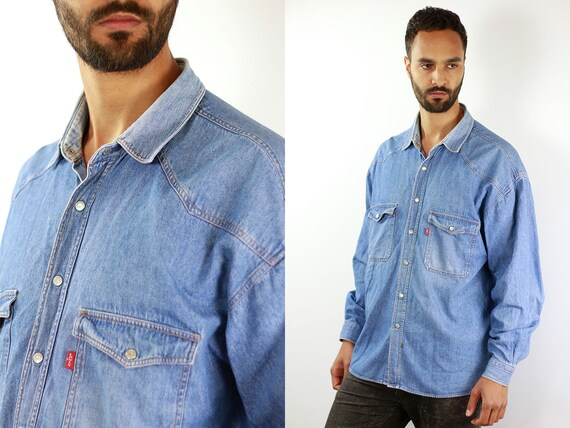 LEVIS Denim Shirt Levis Jean Shirt Levis Shirt Blue Shirt Levis Vintage Levis Shirt Button Shirt Levis Jean Shirt Denim Shirt Vintage Shirt