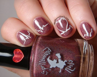 Love Bug Bouquet with optional scent - Custom Oxblood Red Holographic Nail Polish