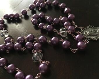 Custom Handmade Glass Bead Rosary