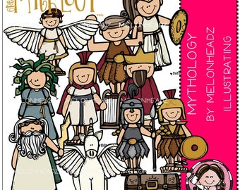 Greek Mythology clip art - Combo Pack