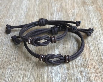 Family bracelets, Brown Bracelets, Mommy and Me, Daddy and Me, Mother and Son, Waterproof Bracelets, Back to School WF001485