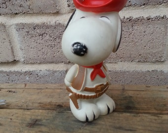Snoopy Cowboy Squeek Toy, 1966, United Feature Syndicate,inc