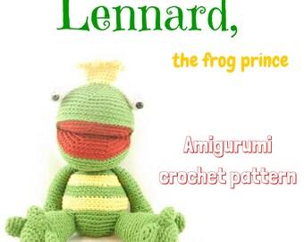 Lennard, the frog prince // Little Wendy crochet pattern, amigurumi