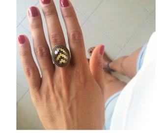 Chevron Ring brass Handmade Jewelry Photo Ring