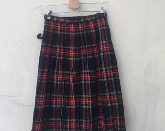 Vintage Clan Crest Tartan Skirt