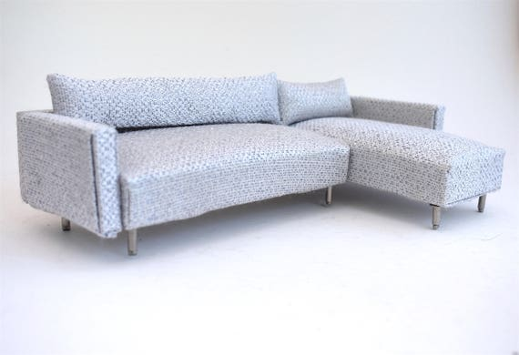 Sofa Couch Chaise Modern Miniatures 1 12 Scale Dolls House Ice