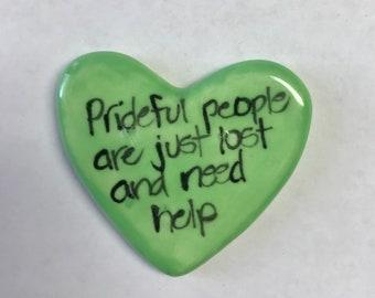 Prideful people special edition Ceramic  Pocket Prayer cross