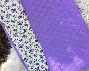Baby Blanket, Girls baby blanket, lavendar baby blanket, floral baby blanket, lavender baby quilt, floral baby quilt, girls nursery blanket