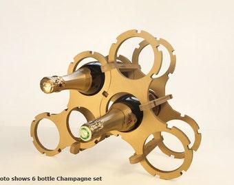 Champagne wine rack (6 Bottles set)