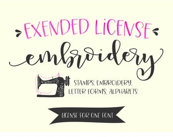 License Extended Embroidery, Alphabet, Stamps, Lettering Forms