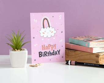 Happy Birthday Card • Illustrated Card • Greeting Card