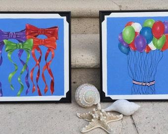 Balloons and bows