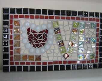 Mosaic Typography 'LOVE' one love, rainbow love, big love, valentine love,kaleidoscope of love,one size fits all,self love,make love not war