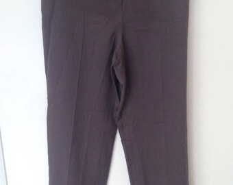 YSL Maroon Purple High Waist Suit Pants
