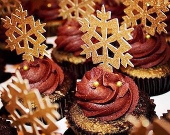 winter wonderland cupcake toppers, snowflake cupcake toppers, cupcake toppers, snowflakes, snowflake toppers, snowflakes