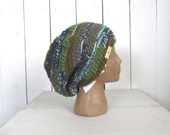 Slouchy Winter Beret Crochet Dreadlock Beanie Hat Floppy Winter Hat More Color Options