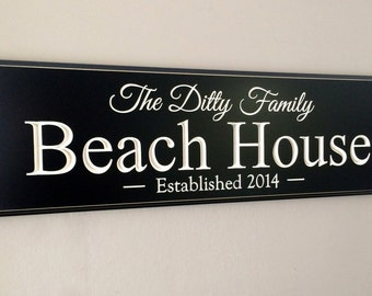 Beach House Sign | Lake House | Lake house decor |  Beach House | Personalized sign | Family Name Sign | Established Date | Beach Decor